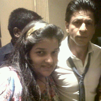 Shahrukh Khan and Priyanka Raina