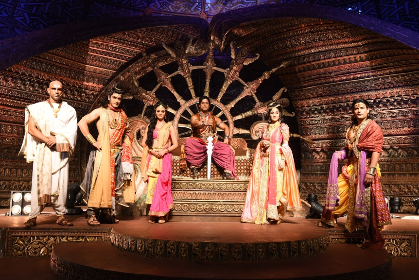 Contiloe Pictures_Dakssh Ajit Singh as Radhagupta, Ankit Arora as Sushim, Kajol Srivastava as Devi, Mohit Raina as Chand Ashoka, Somya Seth as Kaurwaki and Siamak on Chakravartin Ashoka Samrat (3)