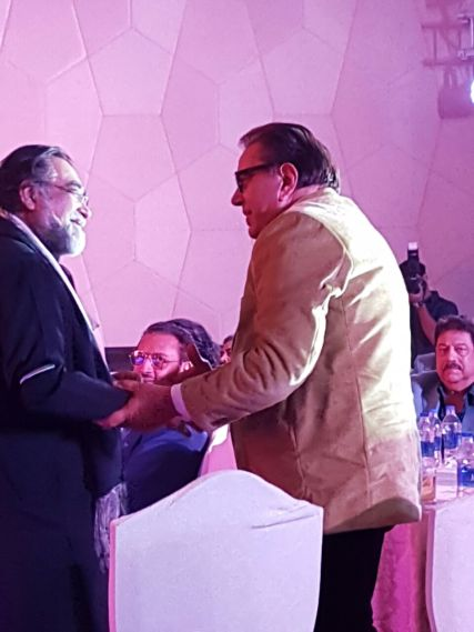Dharmendra, Prahalad Kakkad at SAVVY HONOURS