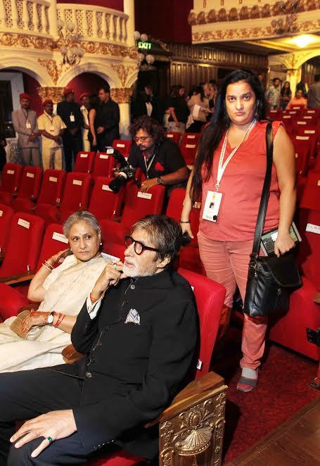 Priyanka Raina with Amitabh Bachchan, Jaya Bachchan