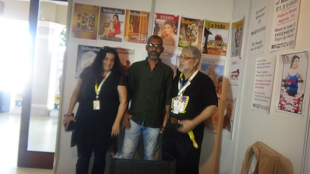 Sairat Dir at our stall , with Ramesh Tekwani