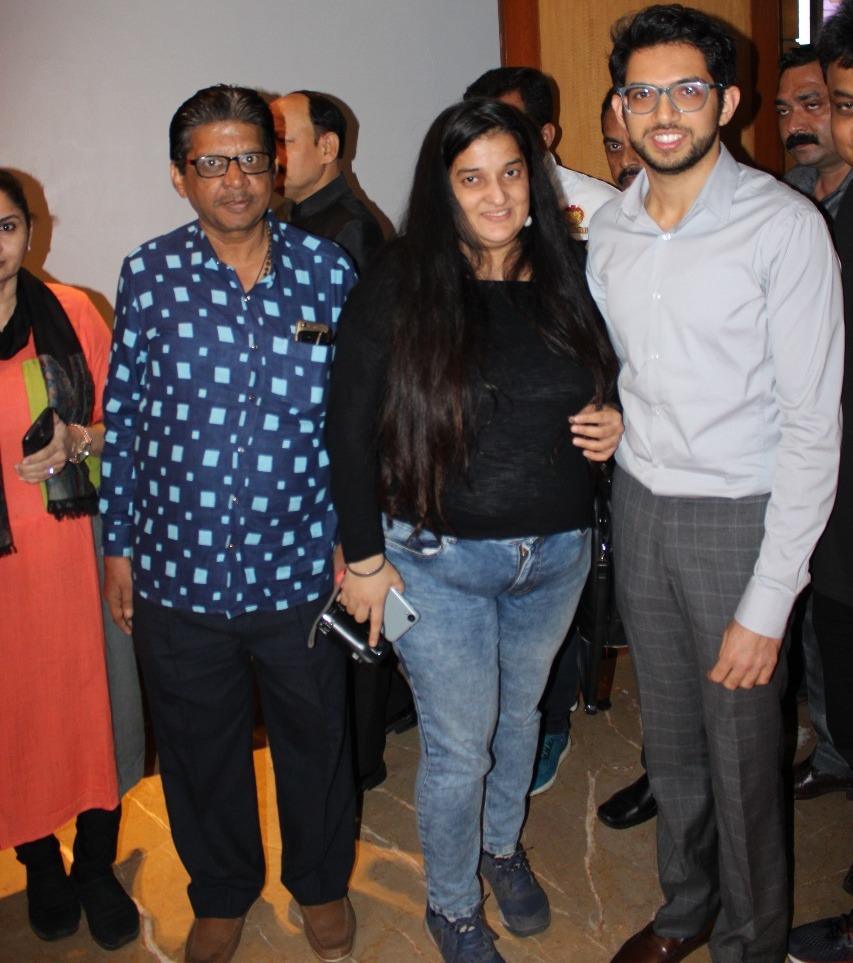 Aditya Thackeray , Priyanka Rainaat VEER Maratha launch