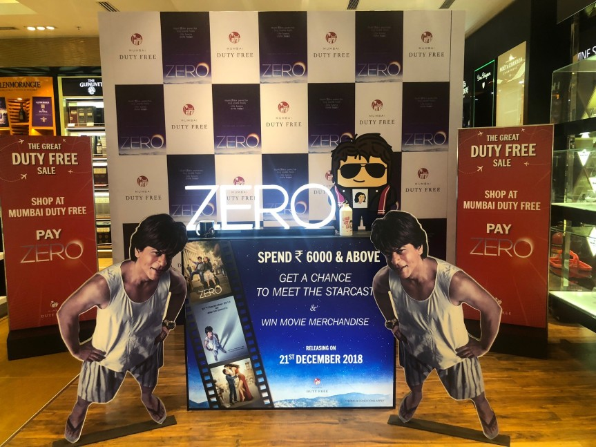 Zero movie promotion at Mumbai Duty Free (2)