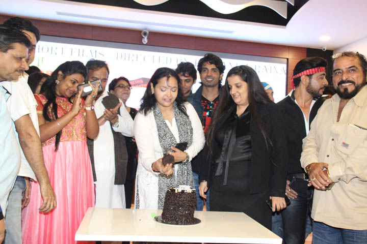 Sahila Chaddha's Birthday Celeberations with MEDIA & Film Fraternity at Short Film Launch!