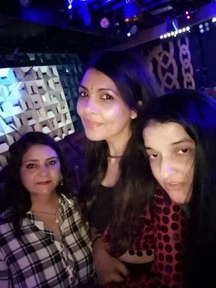 Priyanka Raina with friends