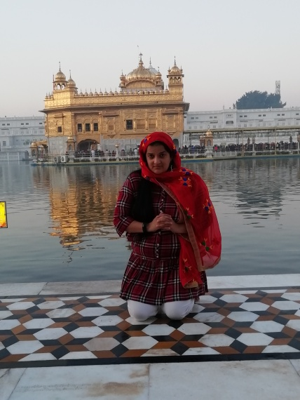 Priyanka Raina at Golden Temple